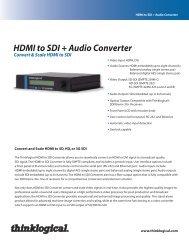 HDMI to SDI Converter Datasheet - Thinklogical