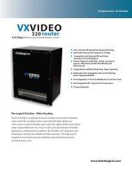 VX320 Video Datasheet - Thinklogical
