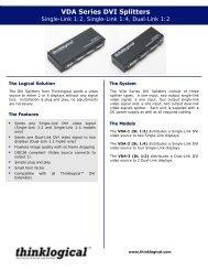 DVI Splitter/Distribution Amp Datasheet - Thinklogical