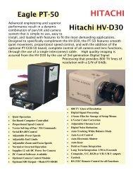 PT-50 / HV-D30 Brochure - Hitachi Kokusai Electric America, Ltd.
