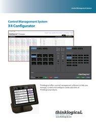 X4 Configurator Datasheet - Thinklogical
