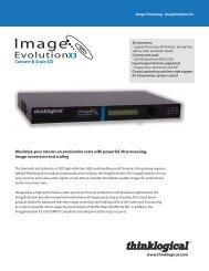 ImageEvolution X3 Datasheet - Thinklogical