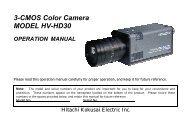 HV-HD30 Op Manual - Computer Modules, Inc.