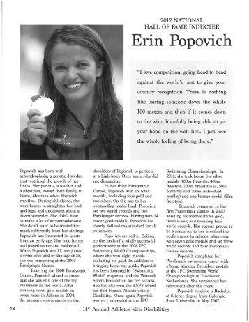 ADN Hall of Fame - Erin Popovich.pdf - 2013 World Dwarf Games