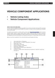Vehicle component applications