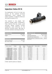 Bosch Injection Valve EV 6