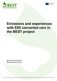 Emissions and experiences with E85 converted cars in the BEST ...