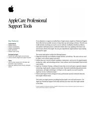 AppleCare Professional Support Tools