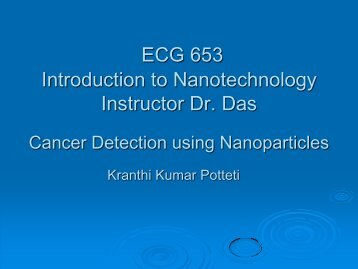 Cancer Detection Using Nanoparticles
