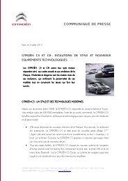 12.287 communique de presse citron c5 et c8 - evolutions de style et ...