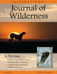 Zambezi Wilderness - International Journal of Wilderness