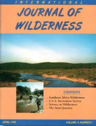 Download full PDF - International Journal of Wilderness