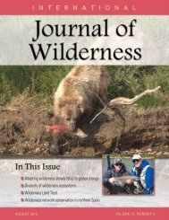Download the August 2012 PDF - International Journal of Wilderness