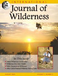P3-Aug 2003 IJW vol 9 no 2 - International Journal of Wilderness
