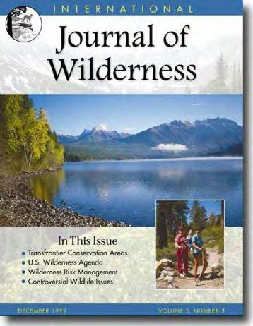 Download full PDF - International Journal of Wilderness