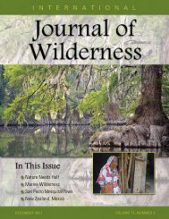 Download December 2011 PDF - International Journal of Wilderness