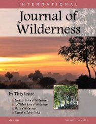 Download the April 2012 PDF - International Journal of Wilderness
