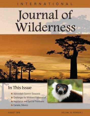 Download August 2010 PDF - International Journal of Wilderness