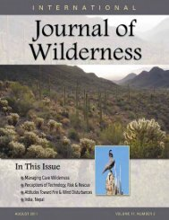 Download the August 2011 PDF - International Journal of Wilderness