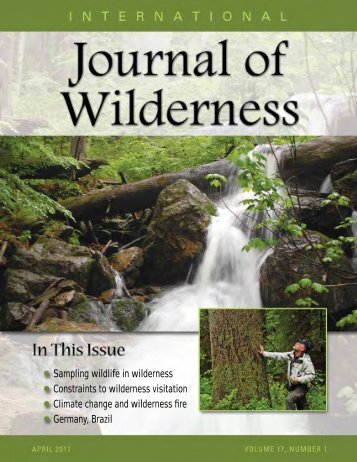 Download April 2011 PDF - International Journal of Wilderness