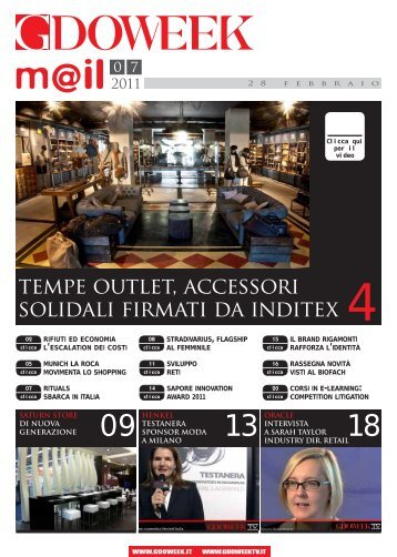 tempe outlet, accessori solidali firmati da inditex - B2B24 - Il Sole 24 ...