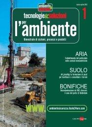 ARIA SUOLO BONIFICHE - B2B24 - Il Sole 24 Ore