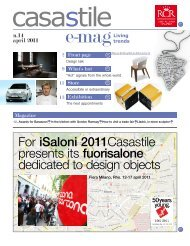 For iSaloni 2011Casastile presents its fuorisalone dedicated to ...