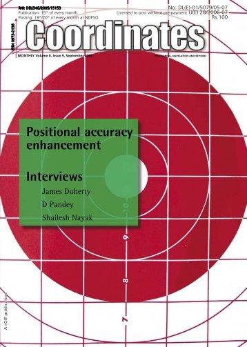 Positional accuracy enhancement Interviews - Coordinates