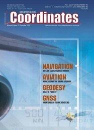 NAVIGATION AVIATION GEODESY GNSS - Coordinates
