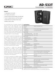 AcousticDesign AD-S32T Specifications - QSC Audio Products