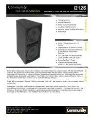 i212S - Community Professional Loudspeakers