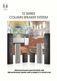 TZ SERIES COLUMN SPEAKER SYSTEM