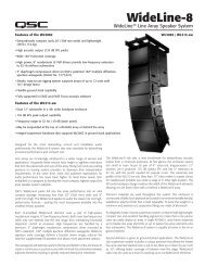 WideLine-8 Specifications - QSC Audio Products