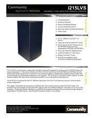 i215LVS - Community Professional Loudspeakers