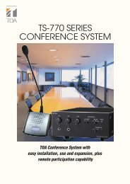 TS-770 SERIES CONFERENCE SYSTEM