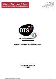 DTS Lighting - Architectural_price list_2012 - ProAudio
