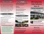 2012 Annual Iowa Celiac Conference Ames, IA