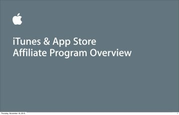 ITunes & App Store Affiliate Program Overview - Apple