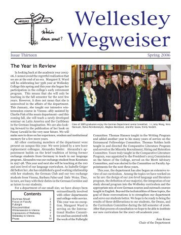 Wegweiser 2006 - Wellesley College