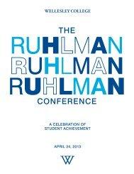 Complete Conference Program - Wellesley College