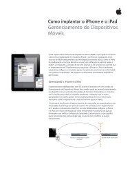Gerenciamento de Dispositivos Móveis - Apple