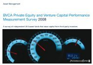BVCA Private Equity and Venture Capital Performance - BVCA admin