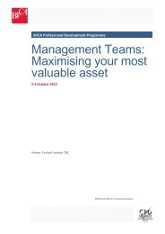 Management Teams: Maximising your most valuable ... - BVCA admin