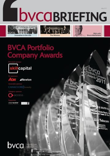 BVCA Portfolio Company Awards - BVCA admin