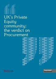 the verdict on Procurement - BVCA admin
