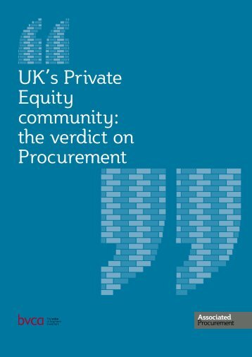 the verdict on Procurement - BVCA admin