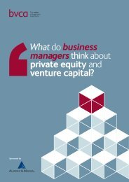Managers Think About Private Equity And venture ... - BVCA admin