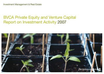 BVCA Private Equity and Venture Capital Report on ... - BVCA admin