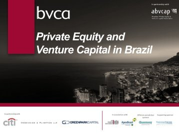 Private Equity and Venture Capital in Brazil - BVCA admin