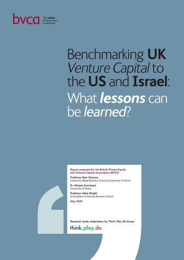 Benchmarking UK Venture Capital to the US and Israel - BVCA admin